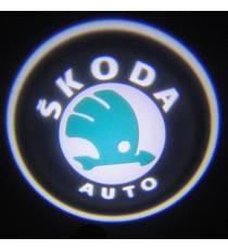 Set proiectoare / Logo portiere Skoda